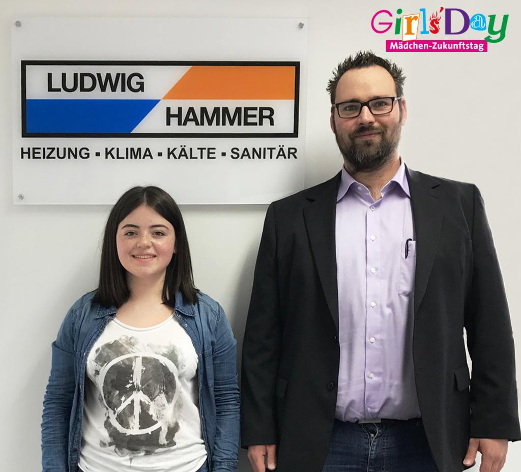 Celine Noe beim Girls'Day von Ludwig Hammer!